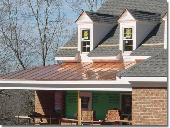 Awnings roofings for Metal roof porch pictures